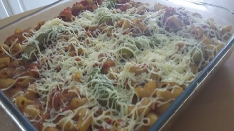 """Pâtes tunisiennes """"one pot pasta"""" gratinées"""