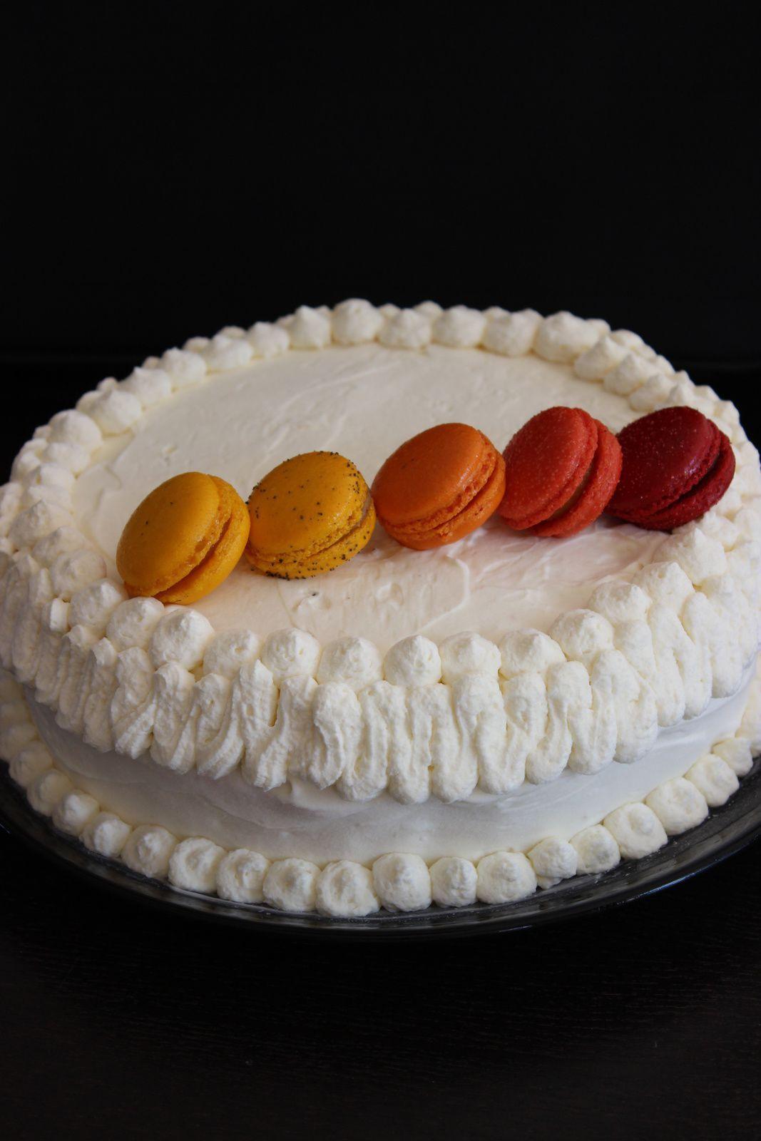 Vacherin glacé vanille framboises chantilly mascarpone - Sladoled torta