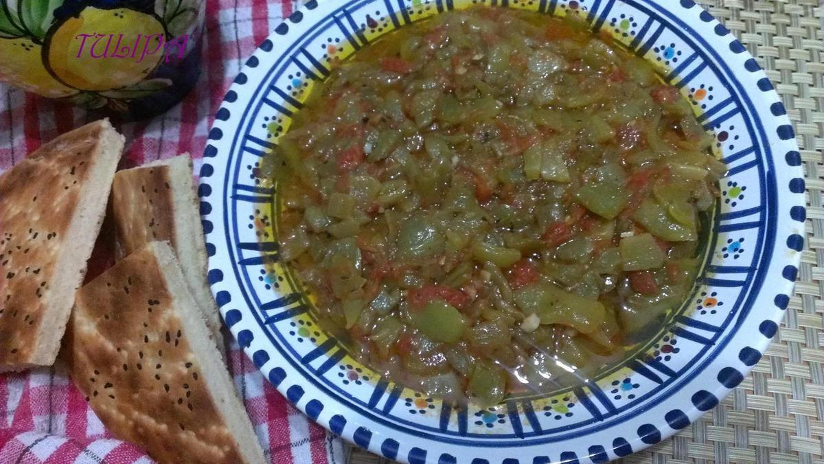 Salade Algérienne de poivrons grillés - Chelita - Hmiss