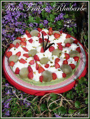 """Tarte """"Fantastique"""" fraises-rhubarbe"""