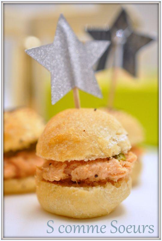 Mini sandwiches aux rillettes comtoises