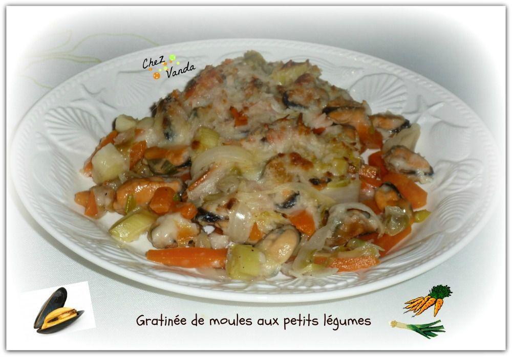 Gratinée de moules aux petits légumes