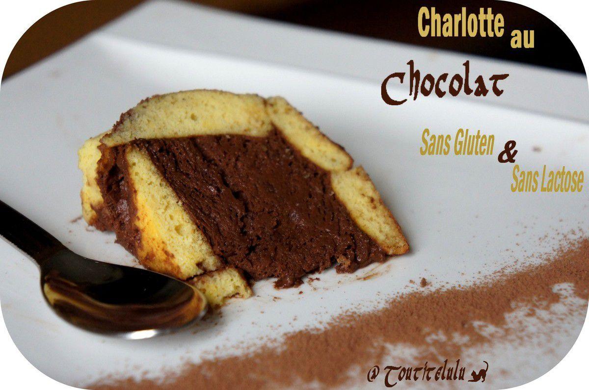 Une bonne Charlotte au chocolat pour un Noël sans gluten ni lactose..