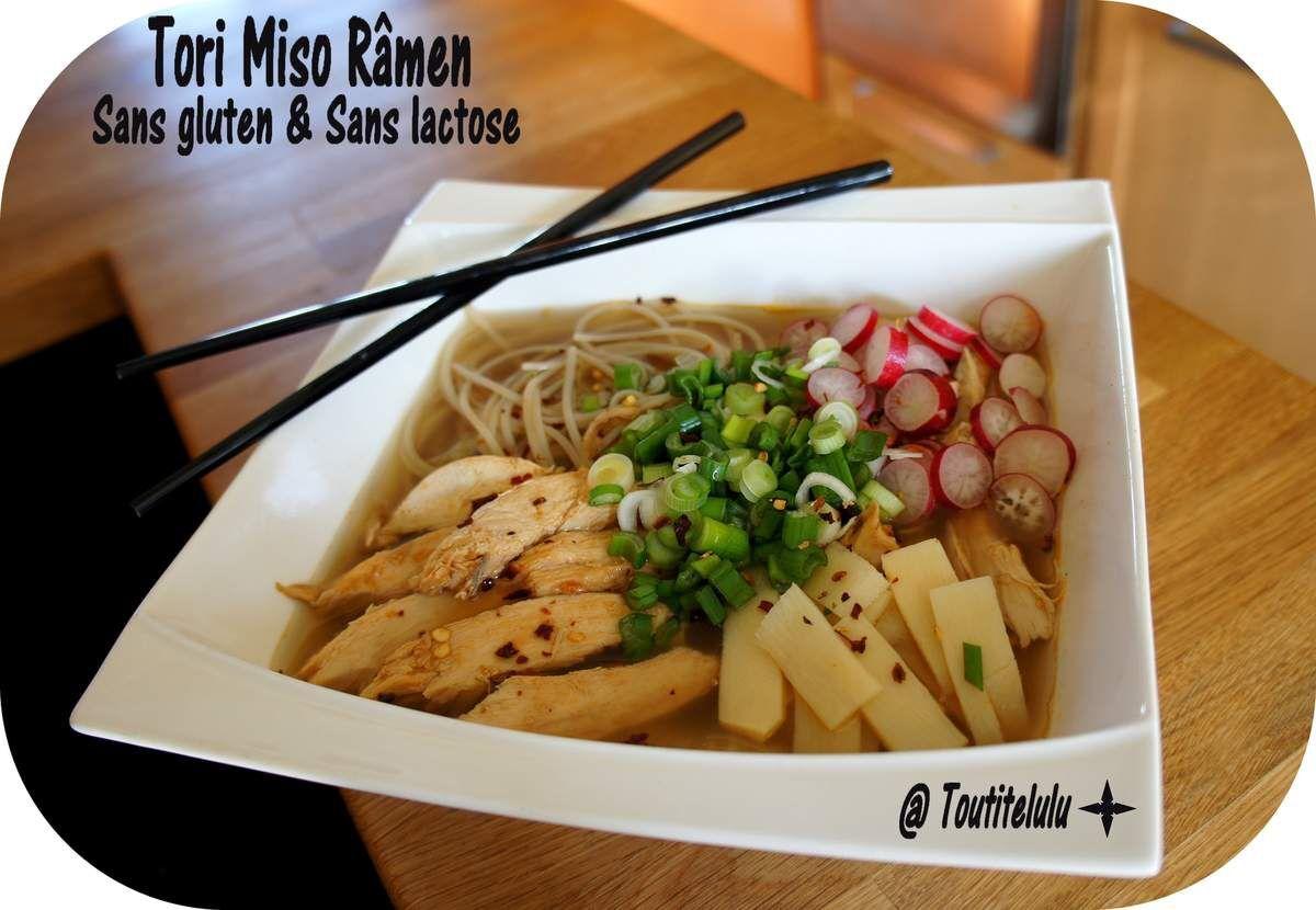 Tori Miso râmen, ou soupe râmen au poulet et au miso... Japon, Japon sans gluten et sans lactose