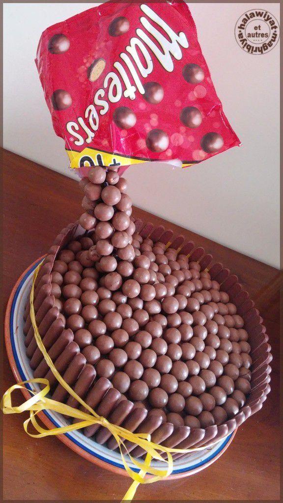 gravity cake aux maltesers