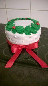 Gâteau de Noël poires/chocolat