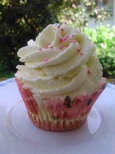 Cupcakes chocolat blanc coeur framboise