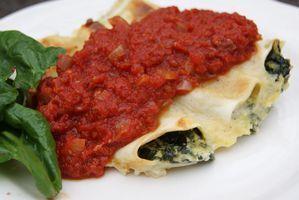 Cannelloni au brocciu et épinards