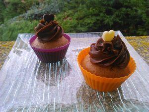 Cupcakes tout chocolat/nutella