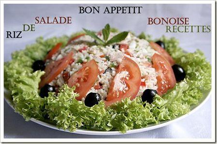 salade facile riz et thon