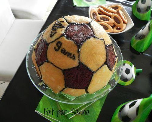 gâteau demi ballon de foot