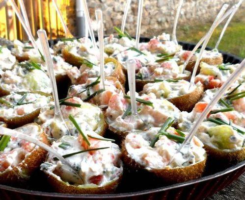 Amuse-bouche de Kiwi aux crevettes avec Mandame Loïk