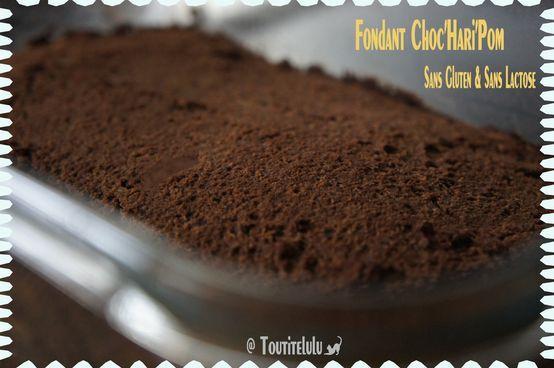 Fondant Choc'Hari'Pom, ou douceur au chocolat et haricot sans gluten, sans lactose et sans caséine
