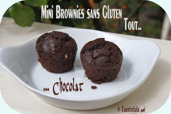 Mini Brownies tout chocolat sans gluten, sans lactose, sans caséine