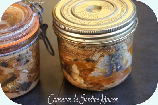 Bocaux de maquereaux ou sardines maison sans gluten, sans lactose, sans caséine
