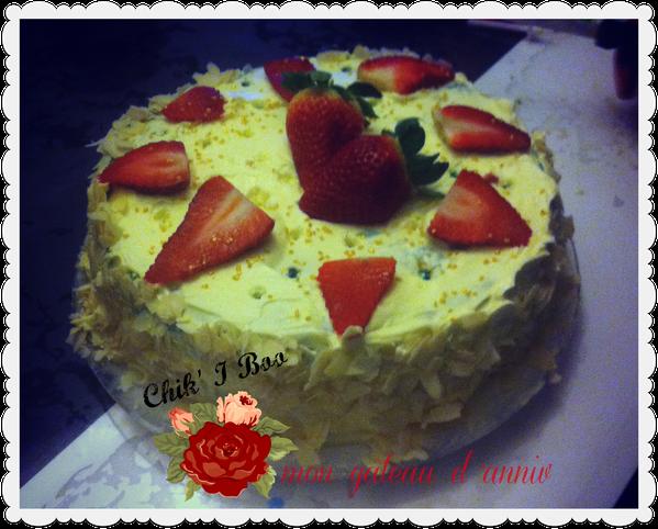 gâteau d'anniversaire rapide