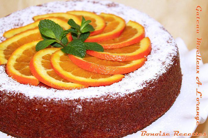 gâteau très moelleux a l'orange