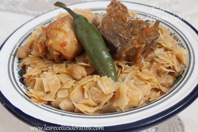 Trida / plat traditionnel Algérien