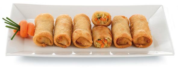 Rollitos de primavera fritos comida oriental