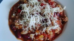 Chili con Carne Pasta Eintopf