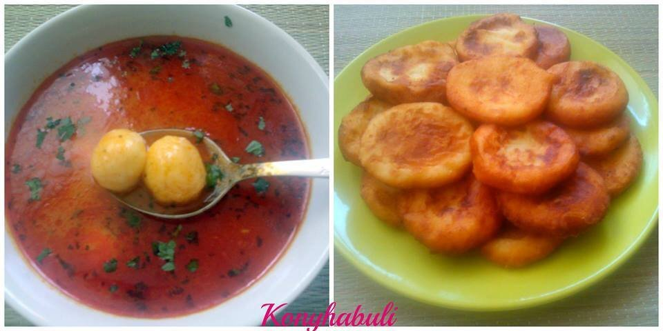 Krumplis pogácsa és gombóc leves