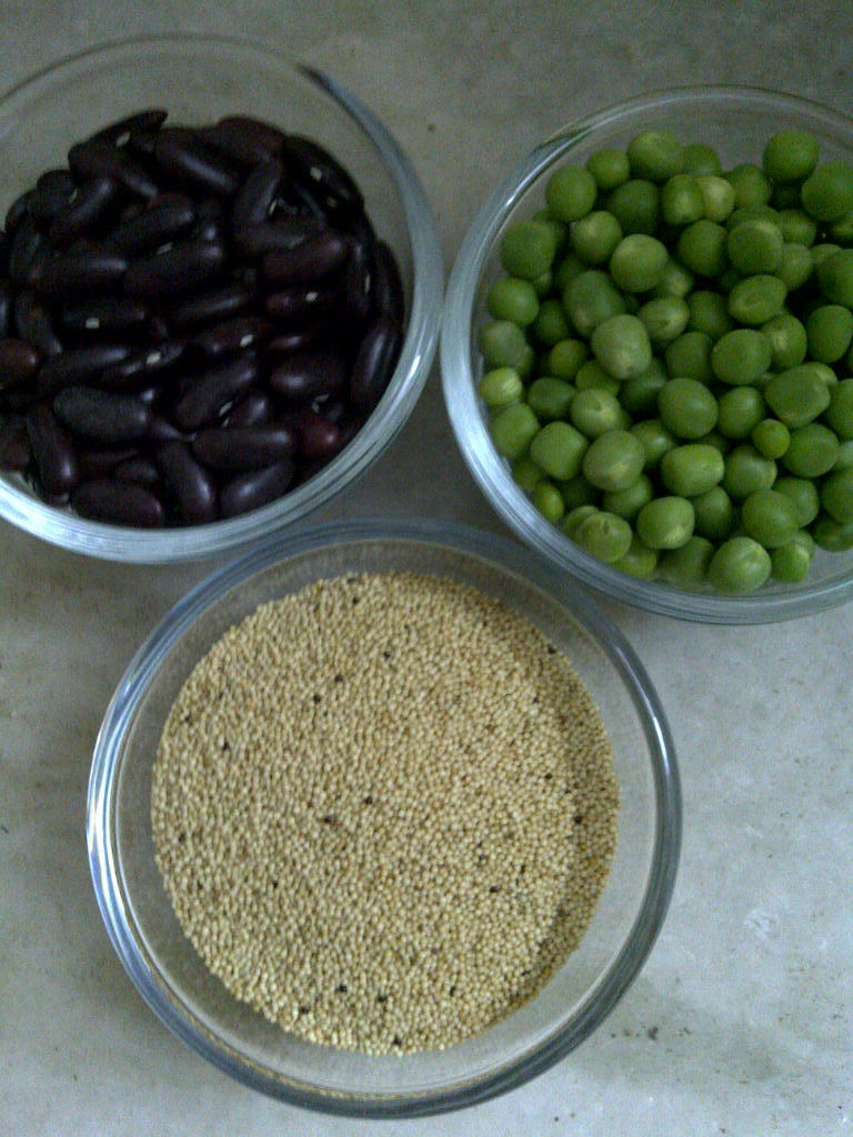 Amaranth Seed, Kidney Bean & Green Pea Cakes