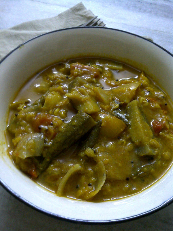 Vegetable Sambar Using Ready Sambar Masala