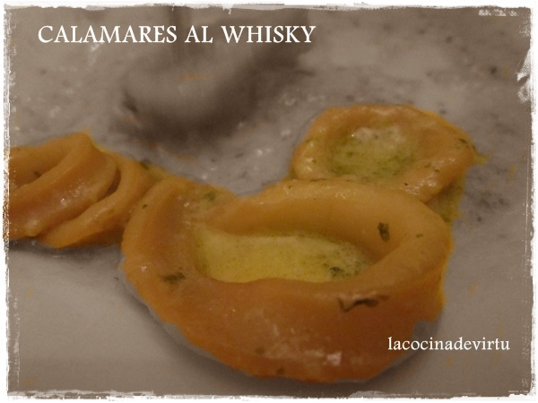 CALAMARES AL WHISKY (Thermomix)