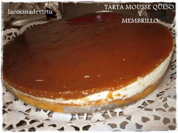 TARTA MOUSSE QUESO Y MEMBRILLO