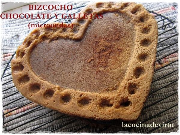 BIZCOCHO CHOCOLATE Y GALLETAS (microondas)