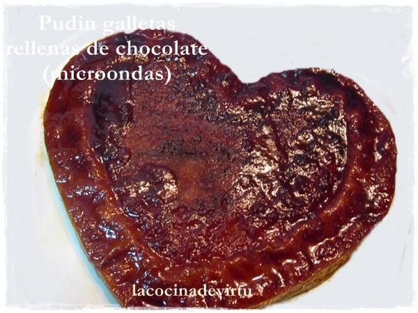 PUDIN GALLETAS RELLENAS DE CHOCOLATE (microondas)