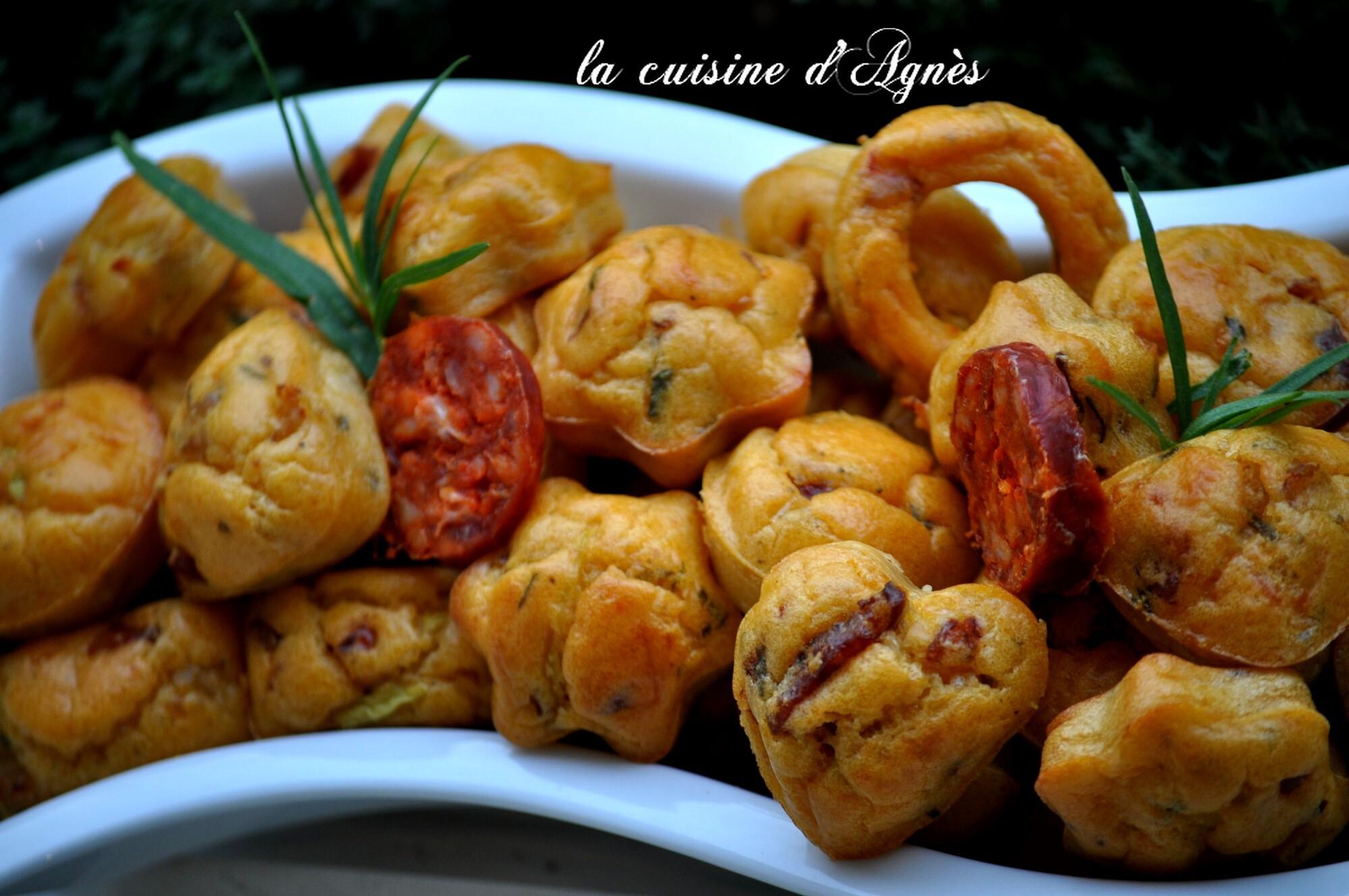 mini cakes crevettes chorizo