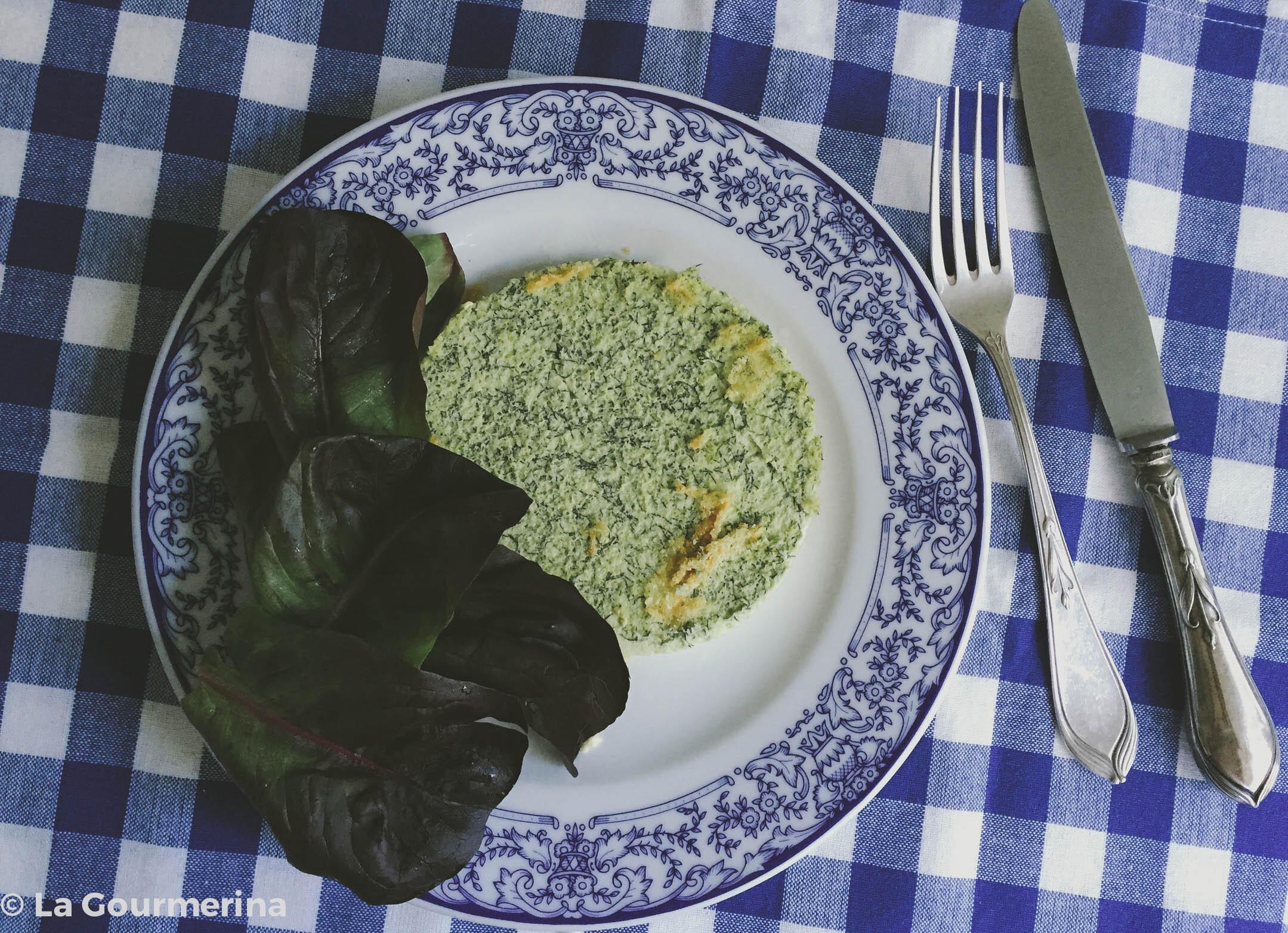 Kräuter-Flan mit Salat