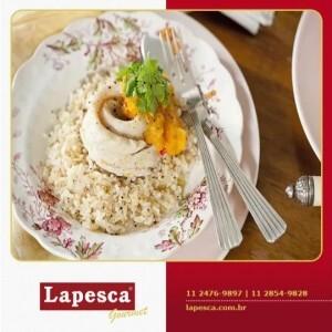 Peixe em roseta com arroz integral