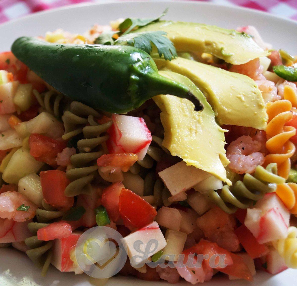 Ensalada de Camarón con Surimi y Pasta de Tornillos BARILLA