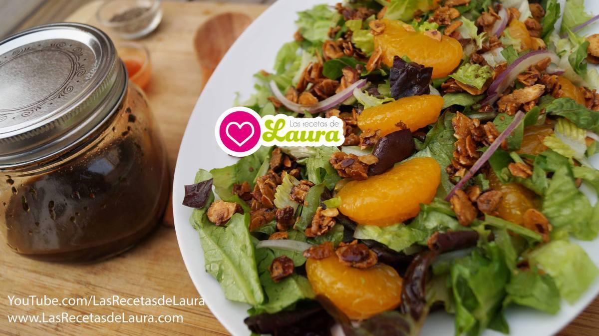 Ensalada con almendras y Mandarina