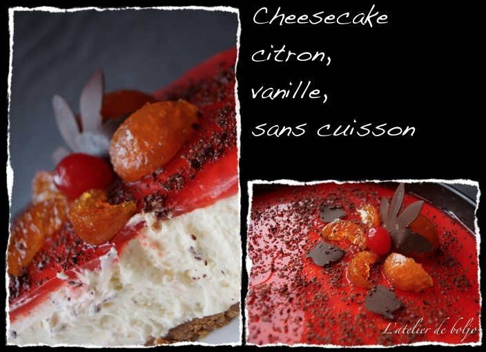 Cheesecake au citron sans cuisson