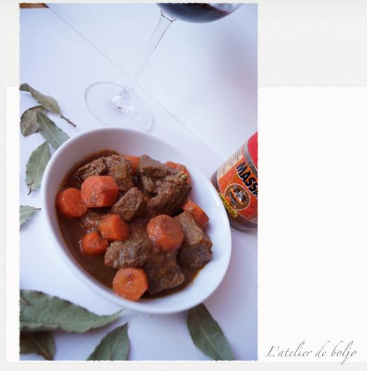 Boeuf massalé aux carottes