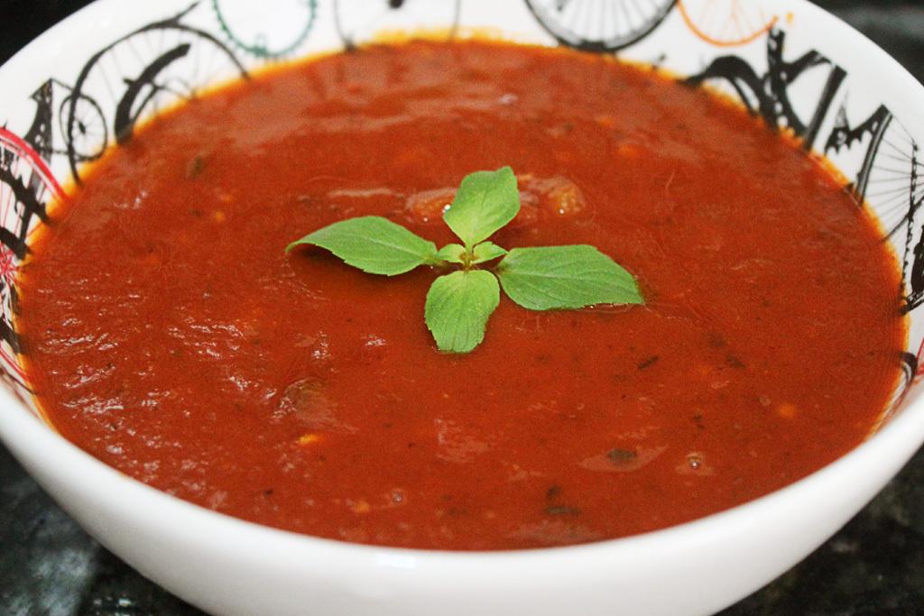 espuma de tomate no liquidificador