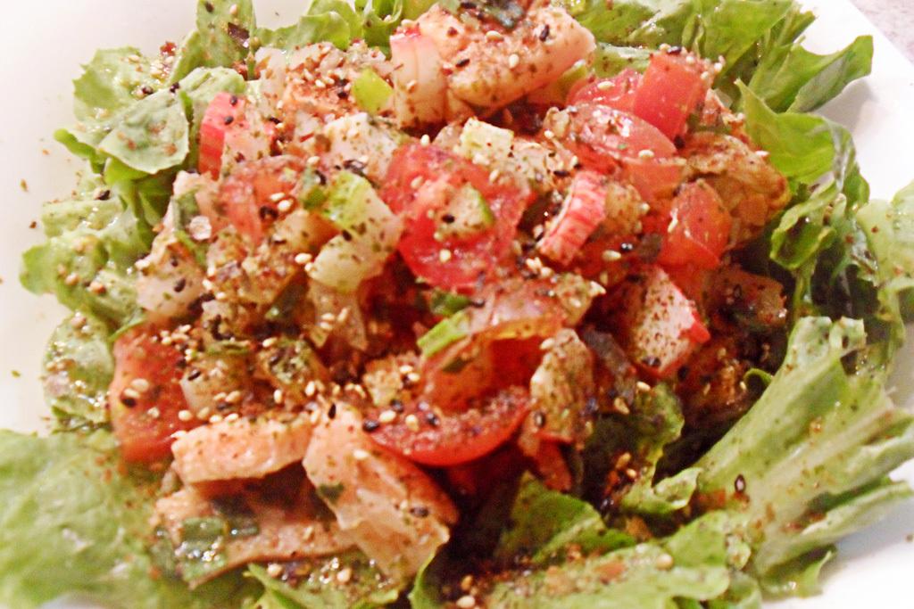 Salada de Salmão e Kani