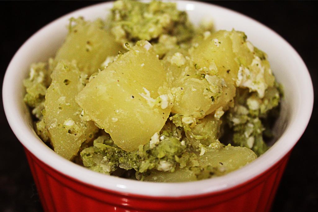 salada de brócolis ovo e batata