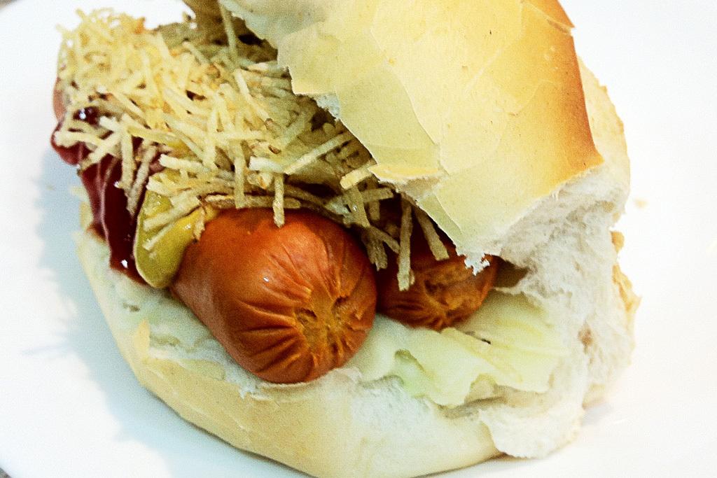 Hot Dog com purê de batatas