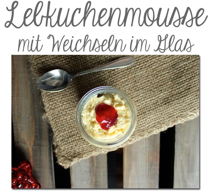 Lebkuchenmousse mit Weichseln im Glas