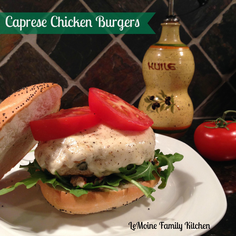 Caprese Chicken Burgers