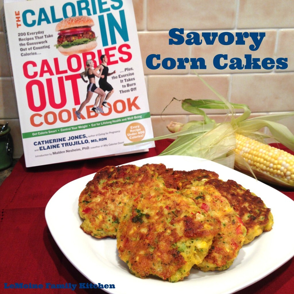 Savory Corn Cakes from Calories In Calories Out Cookbook