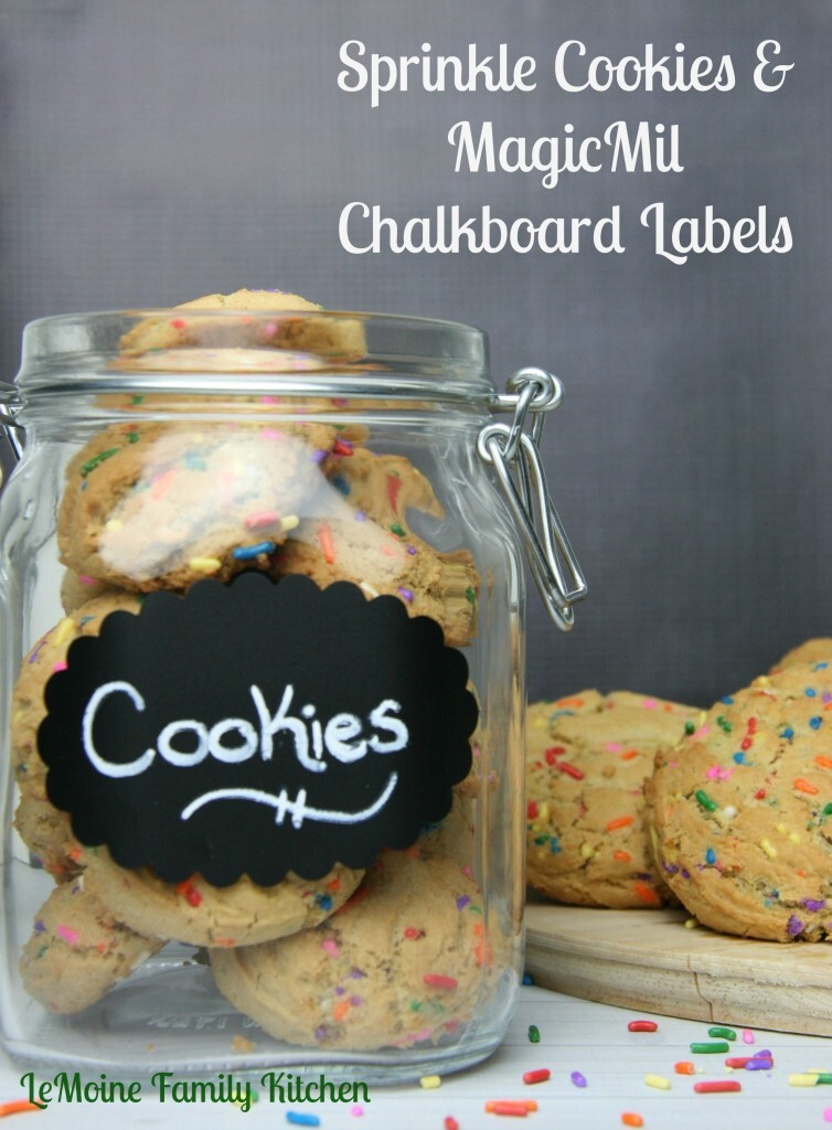 Jarred Sprinkle Cookies & MagicMil Chalkboard Labels {GIVEAWAY!}