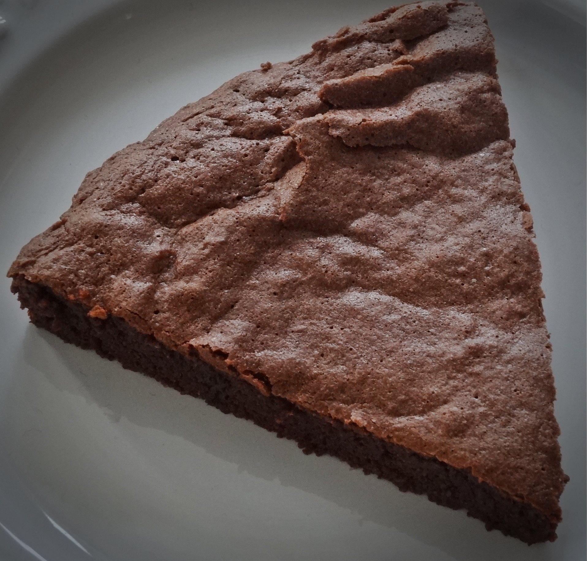 Gâteau au chocolat et beurre salé sans farine