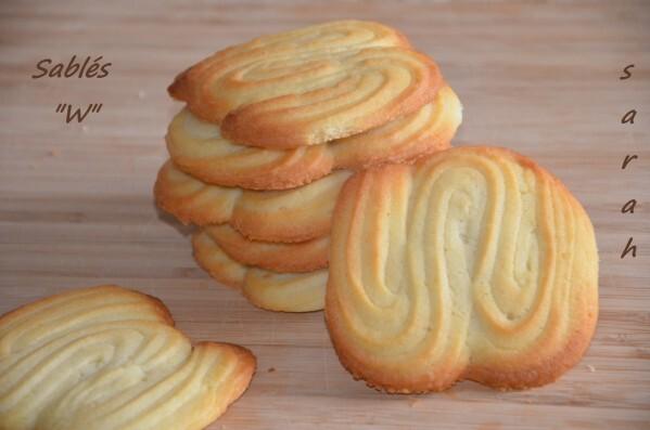 biscuits sablés « W »,biscuits faciles
