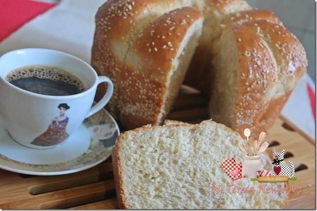 de pão caseiro com fermento de padaria