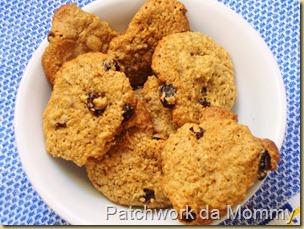 Cookies de aveia com passas